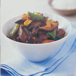 Stir-Fry Beef, Shiitake Mushroom & Snow Pea