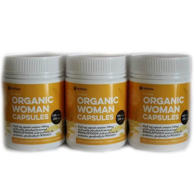 Organic Woman Capsules 200c Pack of 3