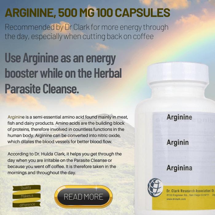 Arginine, 500 mg 100 capsules